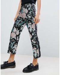 Pantalón chino con print de flores negro de ASOS Edition