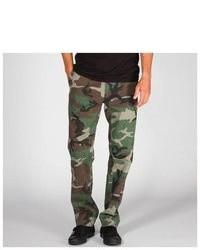 Pantalón chino de camuflaje verde