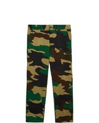 Pantalón Chino de Camuflaje Verde Oscuro de Burberry