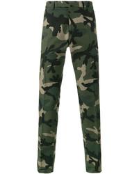 Pantalón Chino de Camuflaje Verde Oscuro de Valentino