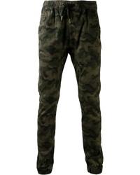 Pantalón Chino de Camuflaje Verde Oscuro de Zanerobe