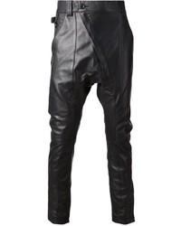 Pantalón Chino de Cuero Negro de Alexandre Plokhov