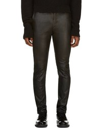 Pantalón Chino de Cuero Negro de CNC Costume National