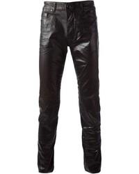 Pantalón Chino de Cuero Negro de Diesel Black Gold