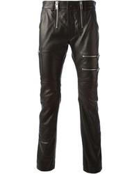 Pantalón Chino de Cuero Negro de Diesel