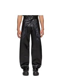 Pantalón chino de cuero negro de Keenkee