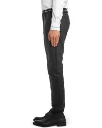 Pantalón chino de cuero negro de Givenchy