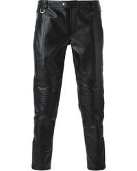 Pantalón Chino de Cuero Negro de Les Hommes