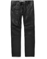 Pantalón Chino de Cuero Negro