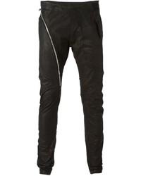 Pantalón Chino de Cuero Negro de Rick Owens