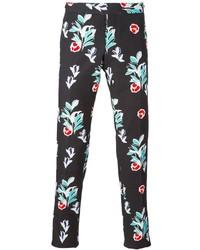 Pantalón Chino de Flores Negro de Thom Browne