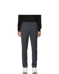 Pantalón chino de lana a cuadros en gris oscuro de Tibi