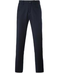 Pantalón chino de lana azul marino