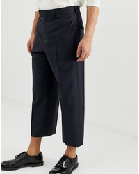 Pantalón chino de lana azul marino de ASOS DESIGN