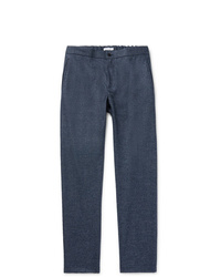 Pantalón chino de lana azul marino de Boglioli
