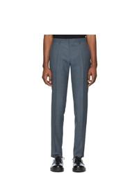 Pantalón chino de lana azul marino de BOSS