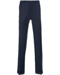 Pantalón Chino de Lana Azul Marino de Brioni