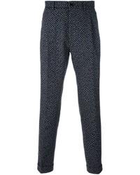 Pantalón chino de lana azul marino de Etro