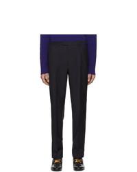 Pantalón chino de lana azul marino de Gucci