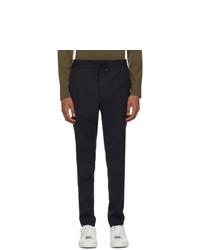 Pantalón chino de lana azul marino de Hugo