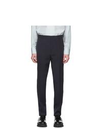Pantalón chino de lana azul marino de Jil Sander