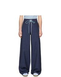 Pantalón chino de lana azul marino de Lanvin