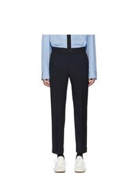 Pantalón chino de lana azul marino de Marni