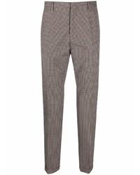 Pantalón chino de lana de pata de gallo marrón de Paul Smith