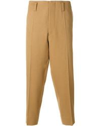 Pantalón chino de lana en beige