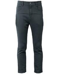 Pantalón chino de lana en gris oscuro