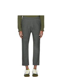 Pantalón chino de lana en gris oscuro de Barena