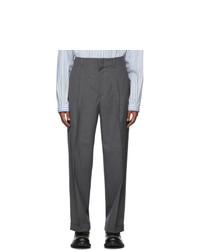 Pantalón chino de lana en gris oscuro de Gucci