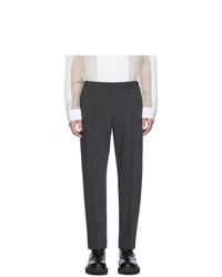Pantalón chino de lana en gris oscuro de Helmut Lang