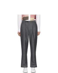 Pantalón chino de lana en gris oscuro de Junya Watanabe