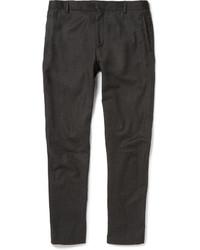 Pantalón chino de lana en gris oscuro de Lanvin
