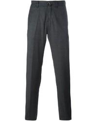 Pantalón chino de lana en gris oscuro de Lardini