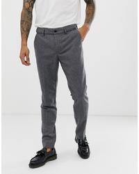 Pantalón chino de lana en gris oscuro de Pier One