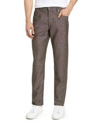 Pantalón chino de lana en marrón oscuro
