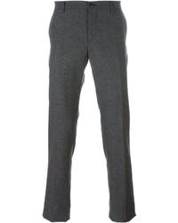 Pantalón Chino de Lana Gris Oscuro de Etro