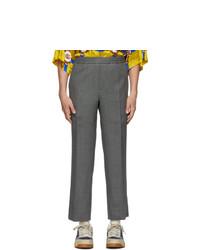Pantalón chino de lana gris de Gucci