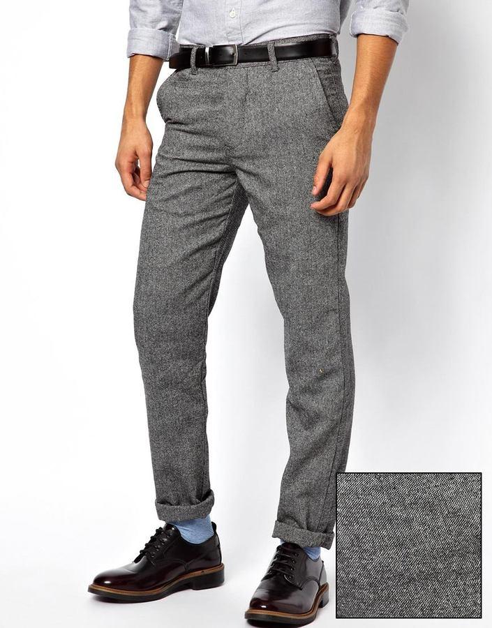 Pantalón chino de lana gris de Minimum