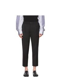 Pantalón chino de lana negro de AMI Alexandre Mattiussi