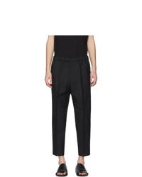 Pantalón chino de lana negro de Jil Sander