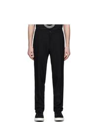 Pantalón chino de lana negro de Salvatore Ferragamo