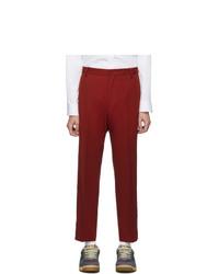 Pantalón chino de lana rojo de Gucci