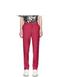 Pantalón chino de lana rosa de Alexander McQueen