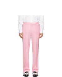 Pantalón chino de lana rosado de Burberry
