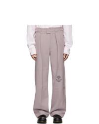 Pantalón chino de lana violeta claro