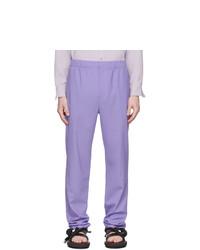 Pantalón chino de lana violeta claro de Tibi