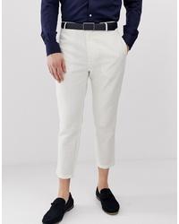 Pantalón chino de lino blanco de Gianni Feraud